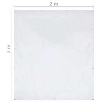 vidaXL Sidevegg til festtelt PVC 2x2 m hvit 550 g/m²