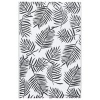 vidaXL Uteteppe hvit og svart 80x150 cm PP