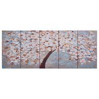 vidaXL Lerretsbilde blomstrende tre flerfarget 150x60 cm