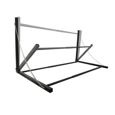 ProPlus Vegghengt dekkstativ stål svart