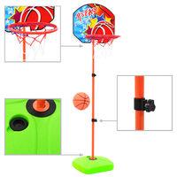 vidaXL Basketkurvsett med ball for barn