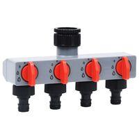 vidaXL Automatisk vanningstimer for hage 4 krantilkoblinger
