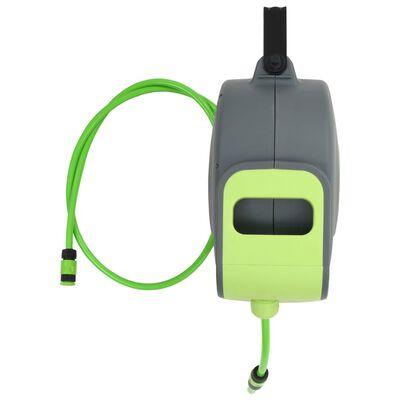 vidaXL Automatisk uttrekkbar slangetrommel veggmontert 30+2 m,