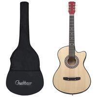 "vidaXL Western akustisk cutaway gitarsett 12 deler med 6 strenger 38"""