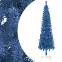 vidaXL Slankt juletre blå 120 cm