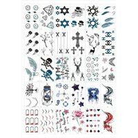 Gni - midlertidige tatoveringer 30 ark med blandede motiver