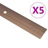 vidaXL Gulvprofiler 5 stk aluminium 100 cm brun