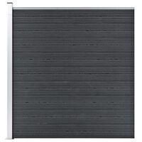 vidaXL Hagegjerde WPC 180x186 cm grå