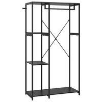 vidaXL Garderobe svart 90x40x167 cm metall og sponplate