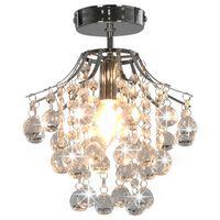 vidaXL Taklampe med krystallperler sølv rund E14