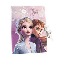Frozen 2 - Dagbok med hjerteformet lås