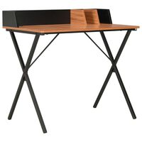 vidaXL Skrivebord svart og brun 80x50x84 cm