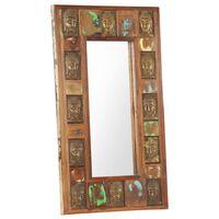vidaXL Speil med Buddha-motiver 50x80 cm gjenvunnet tre