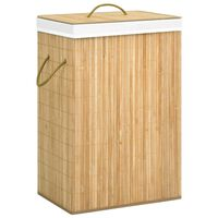 vidaXL Skittentøyskurv bambus 72 L