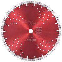 vidaXL Diamantkutteskive med turbo og hull stål 300 mm