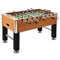 vidaXL Fotballbord stål 60 kg 140x74,5x87,5 cm lysebrun og svart