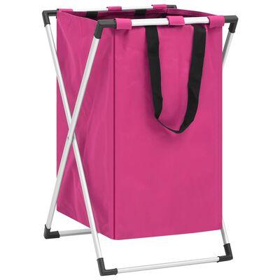 vidaXL Skittentøyskurv rosa