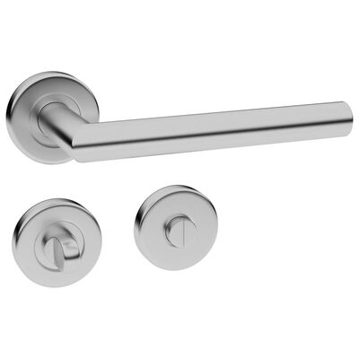 vidaXL Dørhåndtaksett med WC-lås rustfritt stål