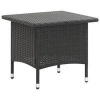 vidaXL Tebord svart 50x50x47 cm polyrotting