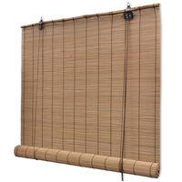 vidaXL Rullegardin bambus 150x160 cm brun