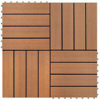 vidaXL Terrassebord 22 stk 30x30 cm 2 kvm WPC brun