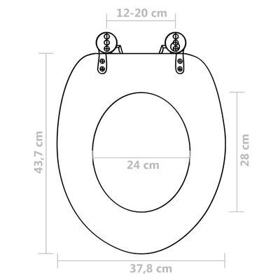 Toalettsete med MDF Lokk Vanndråpe Design