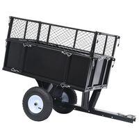 vidaXL Tipphenger til plentraktor 150 kg last
