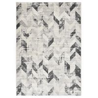 vidaXL Teppe grå og hvit 80x150 cm PP