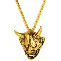 Smykke, Maske med Horn - Gull