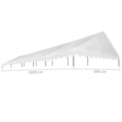 vidaXL Tak til festtelt 5x10 m hvit 450 g/m²