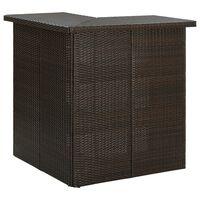 vidaXL Hjørnebarbord brun 100x50x105 cm polyrotting