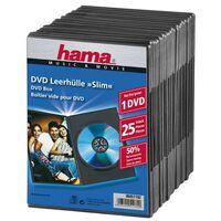 HAMA DVD-Box Slim Black 25-pakke