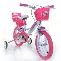 "Dino Bikes Barnesykkel Unicorn rosa 16"""