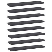 vidaXL Hylleplater 8 stk grå 40x10x1,5 cm sponplate