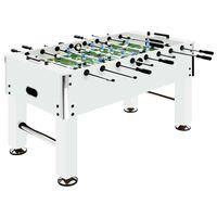 vidaXL Fotballbord stål 60 kg 140x74,5x87,5 cm hvit
