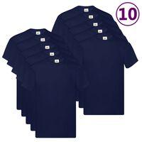 Fruit of the Loom Originale T-skjorter 10 stk marineblå S bomull