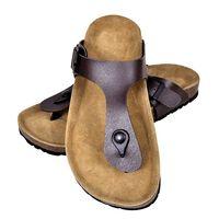 vidaXL Biokork sandaler kvinner flippflopp-design brun størrelse 38