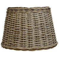 vidaXL Lampeskjerm flettekurv 50x30 cm brun