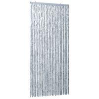 vidaXL Insektgardin 100x220 cm hvit og grå