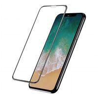 Skjermbeskytter iPhone X / XS herdet glass / 3D full - svart