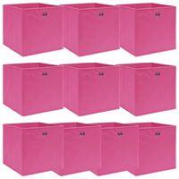 vidaXL Oppbevaringsbokser 10 stk rosa 32x32x32 cm stoff