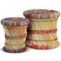 vidaXL Krakker med chindidetaljer 2 stk flerfarget bambus