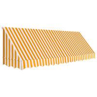 vidaXL Markise 400x120 cm oransje og hvit