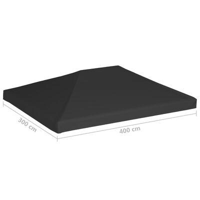 vidaXL Toppduk til paviljong 270 g/m² 4x3 m svart