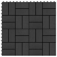 vidaXL Terrassebord 22 stk 30x30 cm 2 kvm WPC svart