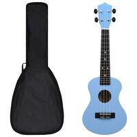 """vidaXL Sopran-ukulele sett med veske for barn babyblå 23"""""""
