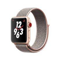 Ekstra nylonarmbånd for Apple klokke 38 mm - Rosa