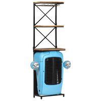 vidaXL Traktor-vinskap blå 49x31x170 cm heltre mango