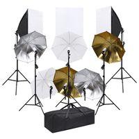 vidaXL Fotostudiosett med lyssett og softbokser