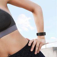 Fitbit Charge 3 armbånd silikon - svart / sølv - liten